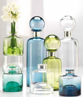 威尼斯手工玻璃镀纯银多功能瓶Bottle