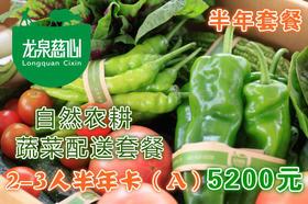 2019【半年卡A 10斤*33次】自然农耕 北京蔬菜配送 2-3人套餐