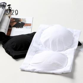 S29极简主义  高品质打底抹胸 白黑色内衣 海绵胸垫 防走光裹胸