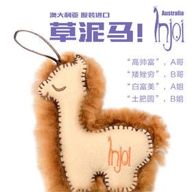 澳大利亚原装进口 奢饰品牌 INJOI 薰衣草 草泥马羊驼毛绒小挂件
