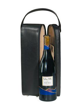 Royce Leather 豪华麂皮绒内衬单提酒盒