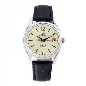 上海手表 金面皮带全自动机械男表 复古经典系列
