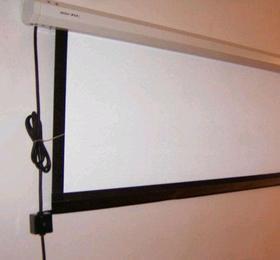 120寸电动幕布 白塑/玻珠幕布 投影机银幕教学家用