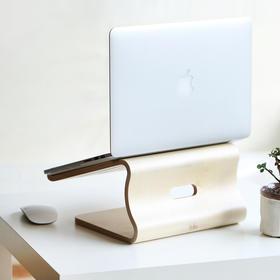 【米马杂货】白桦木笔记本抬头散热架|预防颈椎病的电脑架|请从生活细节做起~