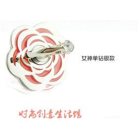 创意手机支架指环支架手机架床头懒人支架玫瑰镶钻花瓣