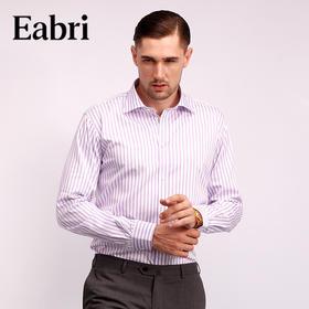 仕族Eabri男高唯纯棉条纹多色长袖商务休闲衬衣