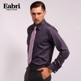 仕族Eabri男士商务袖扣法式衬衫 长袖正装男装休闲纯棉修身衬衣