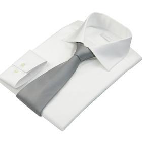 尊轩纯白微纹英式衬衫