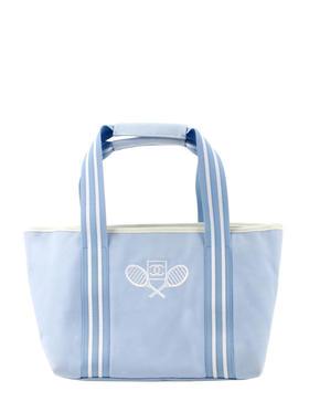 Chanel 蓝色帆布手提袋