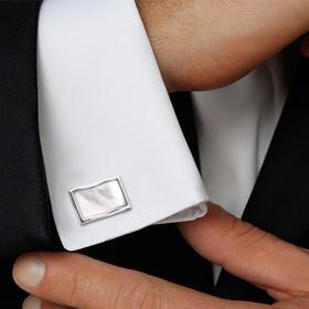 男士法式衬衫袖扣袖钉-珍贝波纹
