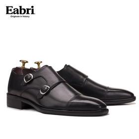 Eabri男士正装孟克鞋/僧侣鞋皮鞋 头层牛皮