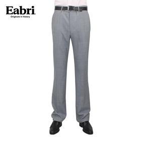 Eabri男士正装西裤 休闲免烫修身羊毛裤子薄款 千鸟格直筒长裤