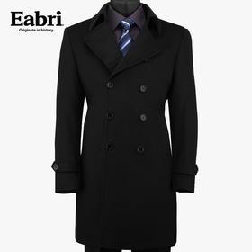 Eabri正品男士羊绒大衣商务正装休闲 双排扣纯羊毛中长款呢外套