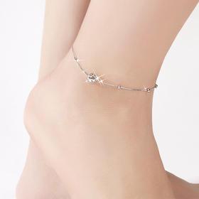 贝莲娜 925纯银脚链 玲珑小球脚链韩版女不褪色不过敏送女友闺蜜生日礼物