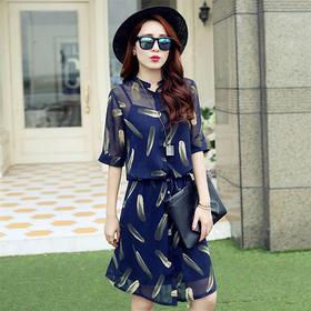 【好时尚】2015夏季新品精美时尚特色两件套 V1459