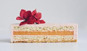 草莓马鞭草葡萄柚蛋糕