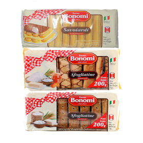 意大利福百妮手指饼/千层酥/焦糖脆皮酥200g/包 FornoBonomi百年意大利传统经典小吃