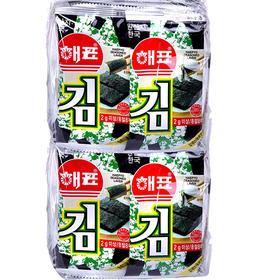 韩国海牌海苔原味/芥末味/鱿鱼味20g/包*4 香香脆脆百吃不厌