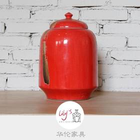 冬瓜罐墨笔中国红  HL-WBH-08003