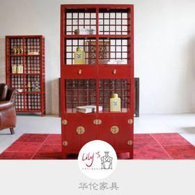 红漆书架 HL-QB-08007