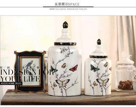 欧式田园创意陶瓷储物罐