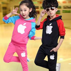 童装男女童长袖运动套装3-13岁 儿童秋款套装 六色可选