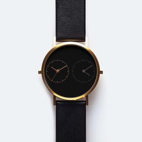 Kitmen Keung 跨越距离的爱双时区腕表|黑皮黑底 3 款(香港)