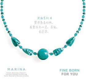 MARINA 4,TURQUOISE GREEN 滨海系列4 绿松石项链