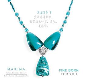 MARINA 3,TURQUOISE GREEN 滨海系列3 绿松石项链