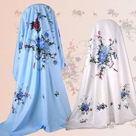 民光家纺 国民床单100%全棉全线中式床单花蓝 200*228cm