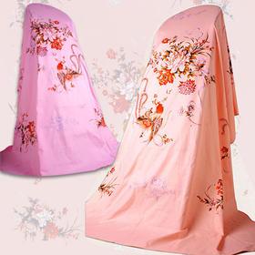 民光家纺 100%全棉全线中式床单 凤穿牡丹