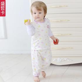 【年货节】盛哲卡 婴儿内衣秋装套装全棉婴儿衣服纯棉0-3岁宝宝长袖2015秋装M120512