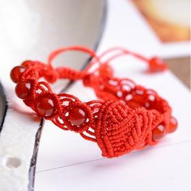 【龙宫】本命年红绳手链 手工编织手绳红玛瑙配饰多款多选情侣款礼物