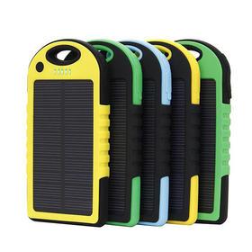 旅游出行必备小巧太阳能移动电源手机通用充电宝10000m充电器 三防超薄聚合物