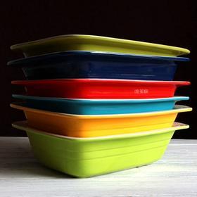 外贸出口 高硬度炻器 炫彩多功能 烤盆 焗饭焗菜盆 沙拉盆 蔬果盆
