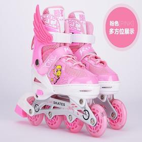 【秉佑微商】溜冰鞋儿童全套装旱冰鞋直排轮滑鞋滑冰鞋可调男女闪光