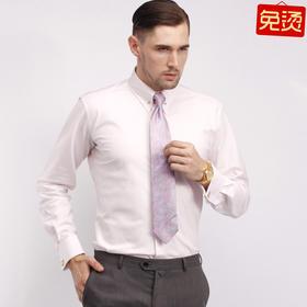 Eabri男士高唯系列帝国式衬衫浅红晶织衬衫