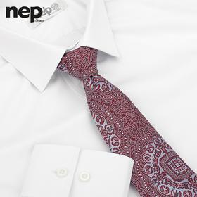 男士条纹棉涤混纺英式衬衫
