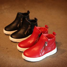 LPKIDS童萌军2015秋冬新款童鞋女童靴子韩版真皮儿童马丁靴短靴男童棉靴亲子鞋