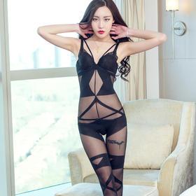 8842正品性感紧身连体丝袜透明情趣诱惑套装