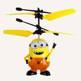 【轻松赚】充电式儿童玩具小黄人遥控飞机愤怒小鸟手感应悬浮直升飞机飞行器075