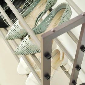 【清仓价20元】米马杂货 精品木质鞋架牢固耐用可伸缩调节四排鞋架子  单独发货