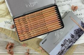 马可素描铅笔12支铁盒