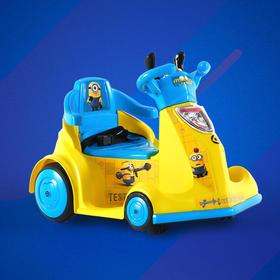小虎子 室内儿童电动车 可坐人宝宝玩具汽车 四轮遥控儿童车 B088 小黄人