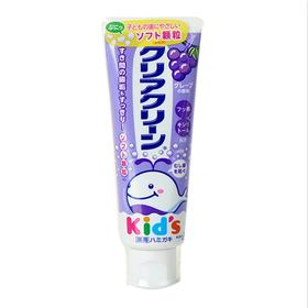 日本进口花王宝宝婴幼儿童牙膏70g 可吞咽防蛀防龋齿葡萄味