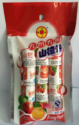 九州方圆山楂片苹果饼山楂饼 130g袋 超越怡达开胃消食