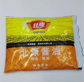 北康  北康酱油 地道醇厚  酿造酱油 220ml