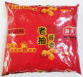 酱油海天珍鲜袋装红烧王350mL 黄豆酱油 老抽