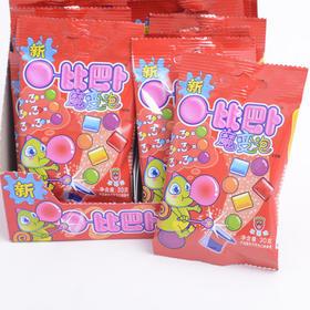 糖果比巴卜魔变泡草莓味泡泡糖30g