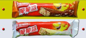雀巢脆脆鲨威化巧克力奶香夹心饼干 20g/条